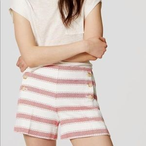 Ann Taylor Loft Striped Riviera Shorts, sz 0